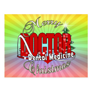 CHRISTMAS Dental Medicine DENTIST Post Card
