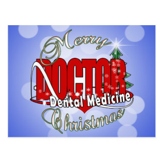 CHRISTMAS Dental Medicine DENTIST Post Cards