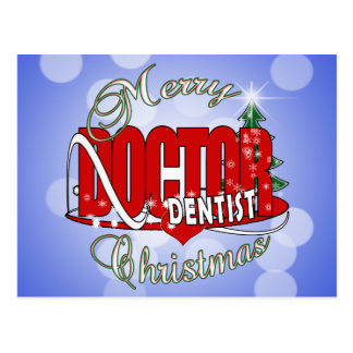 CHRISTMAS DENTIST POST CARD