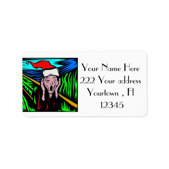 Christmas Design Address Labels