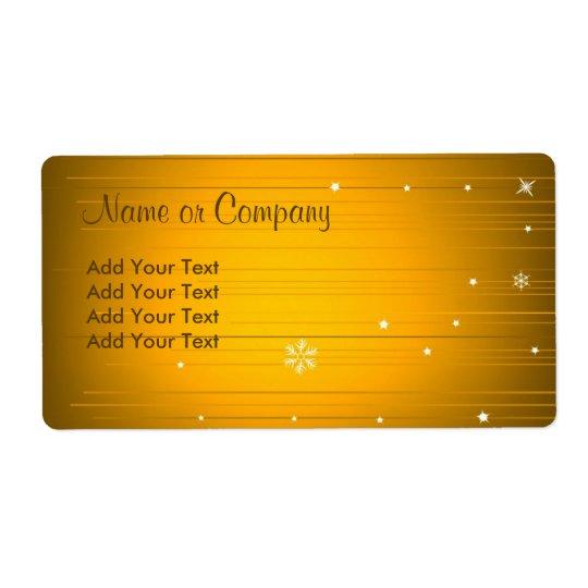 Christmas Design Label