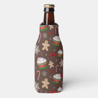 Christmas Dessert Pattern Bottle Cooler