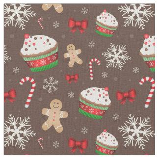 Christmas Dessert Pattern Fabric