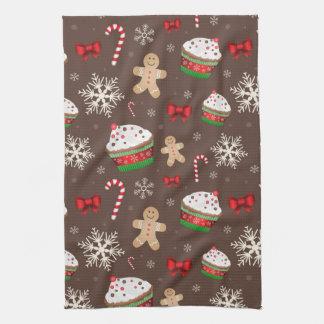 Christmas Dessert Pattern Tea Towel