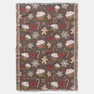 Christmas Dessert Pattern Throw Blanket