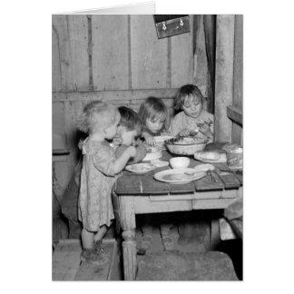 Christmas Dinner 1936 Greeting Card