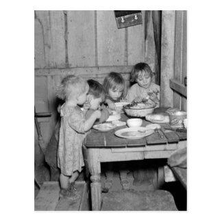 Christmas Dinner 1936 Postcard