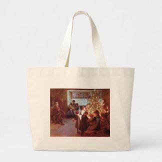 Christmas Dinner Canvas Bags