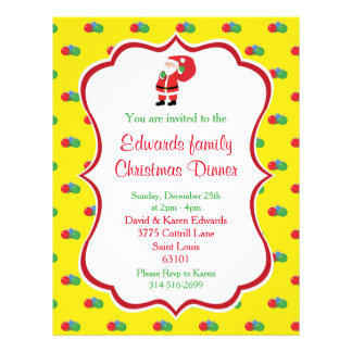 Christmas Dinner Invitation Flyer
