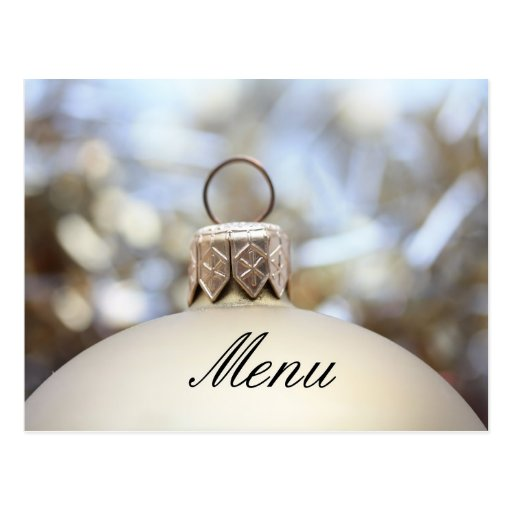 Christmas dinner menu card postcard