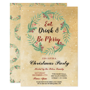 country christmas party invitations zazzle uk