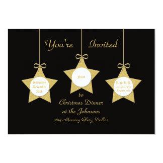 Christmas Dinner Party Invitation, Christmas Stars