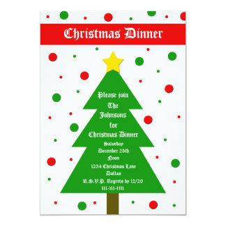 Christmas Dinner Party Invitation Christmas Tree