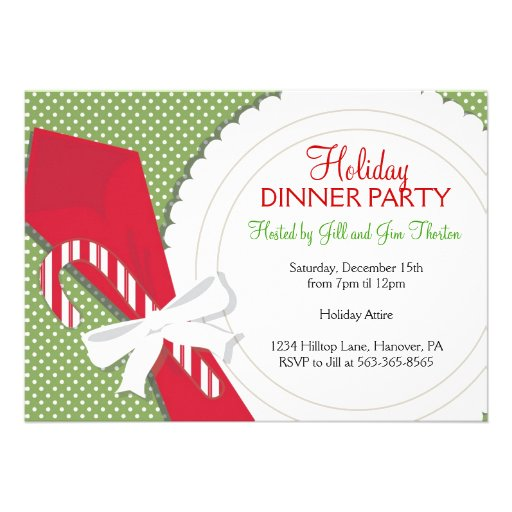 christmas dinner party invitations 5 u0026quot  x 7 u0026quot  invitation card
