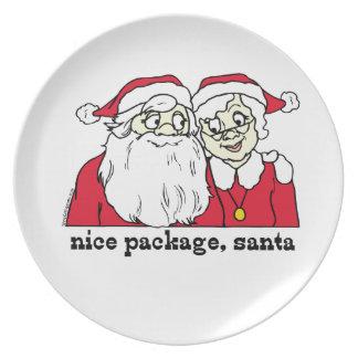 Christmas Dinnerware Nice Package Santa Dinner Plate