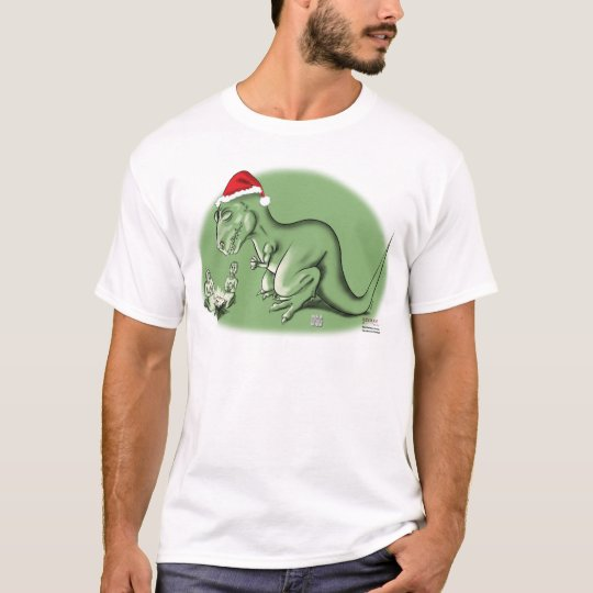 Christmas Dinosaur at the Manger T-Shirt