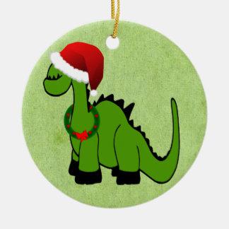 Christmas Dinosaur Christmas Ornament