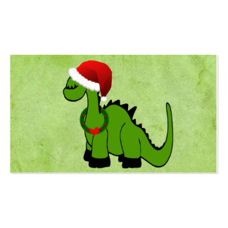 Christmas Dinosaur Pack Of Standard Business Cards