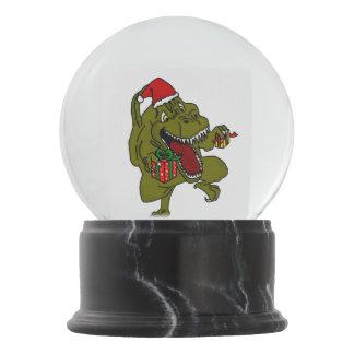 Christmas Dinosaur Snow Globe
