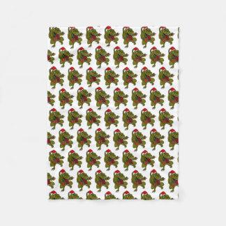 Christmas Dinosaur Snowflake Fleece Blanket