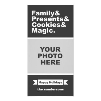 Christmas Distilled Customized Photo Card