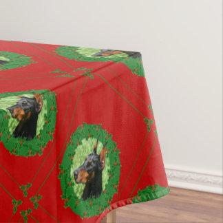 Christmas Doberman Pinscer table cloth