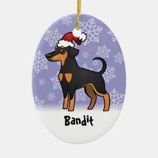 Christmas Doberman Pinscher (floppy ears) Christmas Ornament