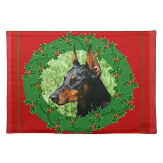Christmas Doberman Pinscher  placemat