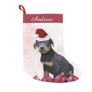 Christmas Doberman Pinscher puppy stocking