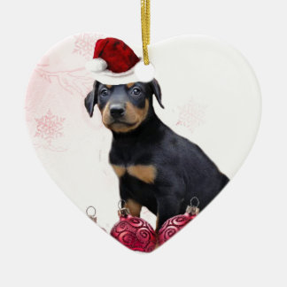 Christmas Doberman puppy Christmas Ornament
