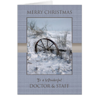 Christmas Doctor and Staff Greeting Card