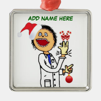 Christmas Doctor Cartoon Christmas Ornament