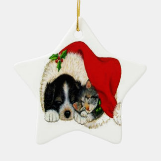 Christmas Dog and Cat Ornament