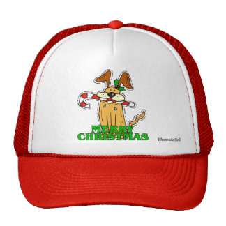 Christmas Dog & Candy Cane Mesh Hats
