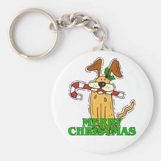 Christmas Dog & Candy Cane. Key Chains