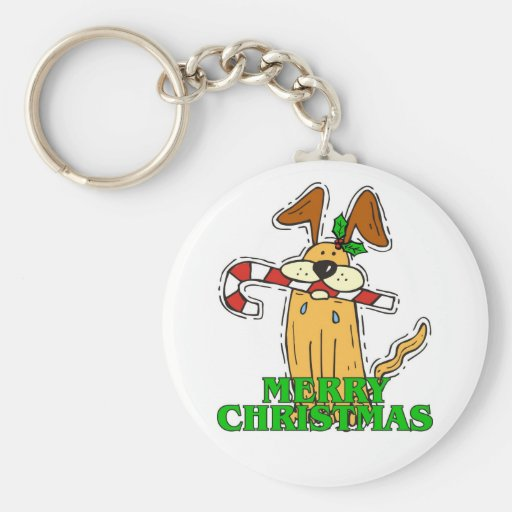 Christmas Dog & Candy Cane. Key Chains