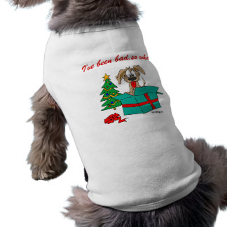Christmas Dog I've Been Bad So What? Sleeveless Dog Shirt