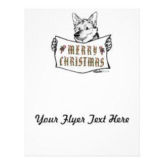 Christmas Dog:  Merry Christmas! 21.5 Cm X 28 Cm Flyer