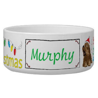 "Christmas DOG Pet Bowl ""Furry Little Christmas"""