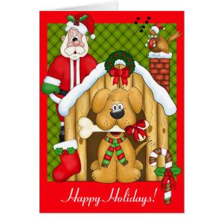 Christmas Dog Photo Frame Greeting Card