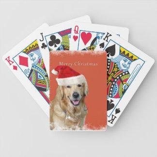 Christmas Dog Bicycle Playing Cards