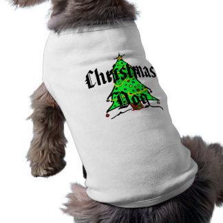 Christmas Dog Pooch Tees Cute Holiday Doggy Sleeveless Dog Shirt
