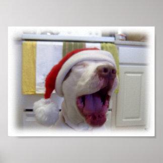 Christmas Dog Poster