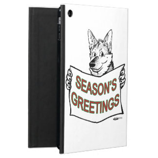 Christmas Dog:  Season's Greetings! iPad Air Case