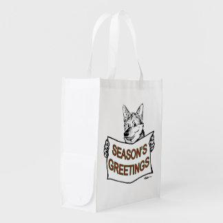 Christmas Dog:  Season's Greetings! Market Totes
