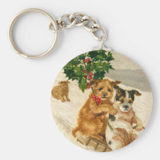 Christmas Dog Sled Key Ring