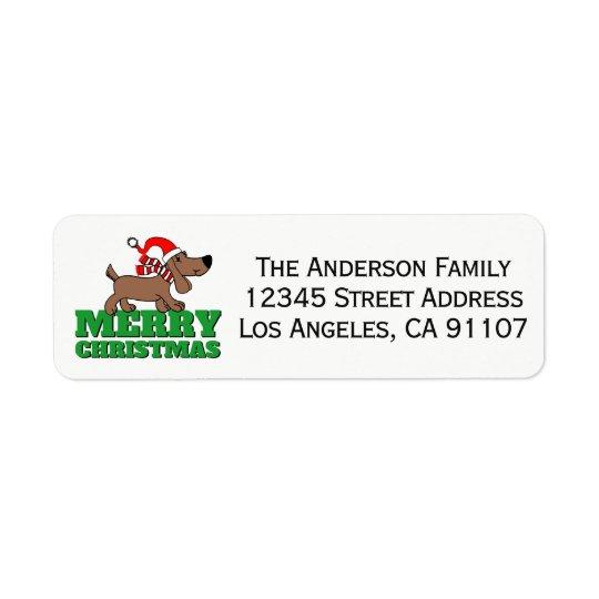 Christmas Doggie Return Address Labels