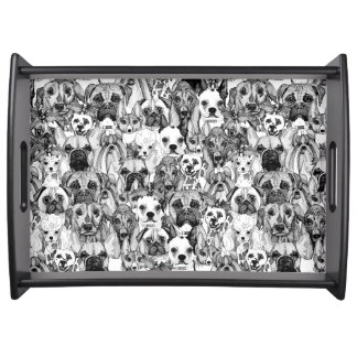 christmas dogs serving tray