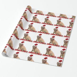 Christmas Dogue de Bordeaux wrapping paper