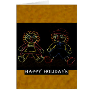 Christmas Dolls (Jack and Jill) ZZ 2016 Greeting Card